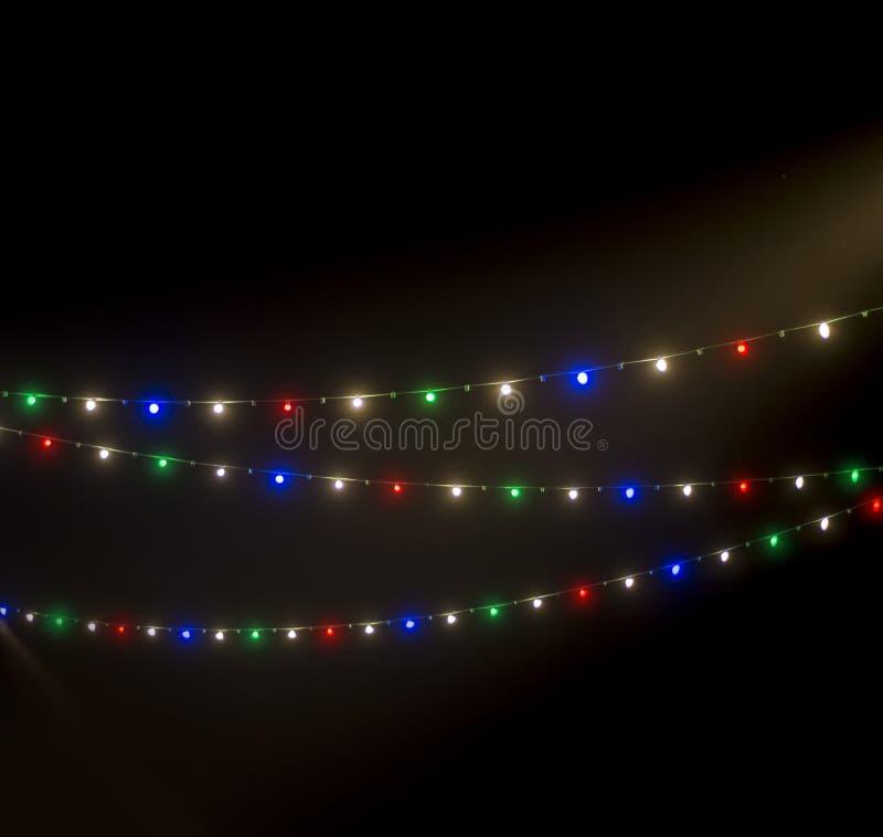 Defocused abstrakter Weihnachtshintergrund stockfotografie