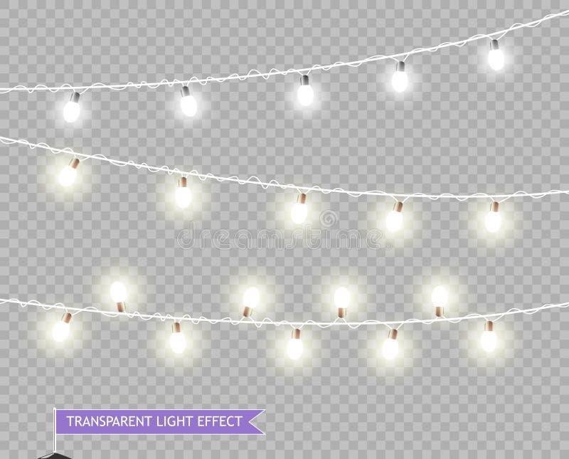 Defocused abstrakter Weihnachtshintergrund Vektor-Weihnachtsglühende Lichter Girlanden, zum von Geschäftsplakaten, Fahnen, Feiert lizenzfreie abbildung
