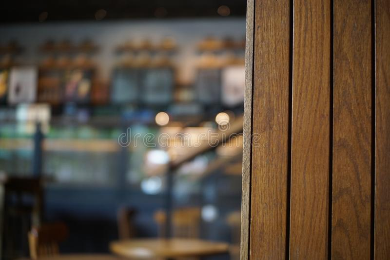 Defocused background of cafe or restaurant interior royalty free stock image