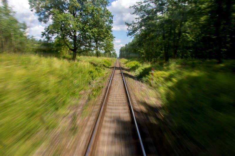 Defocused Bahnstrecken stockfotografie