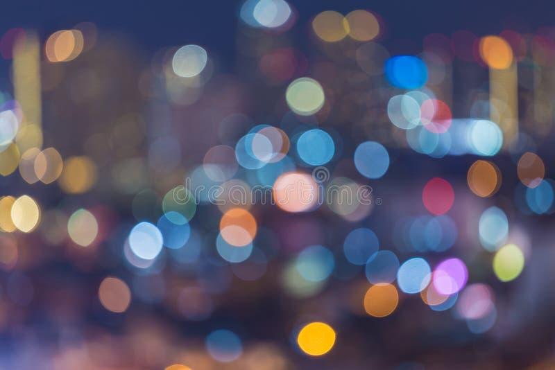 Defocused blur bokeh background. Bangkok city stock image