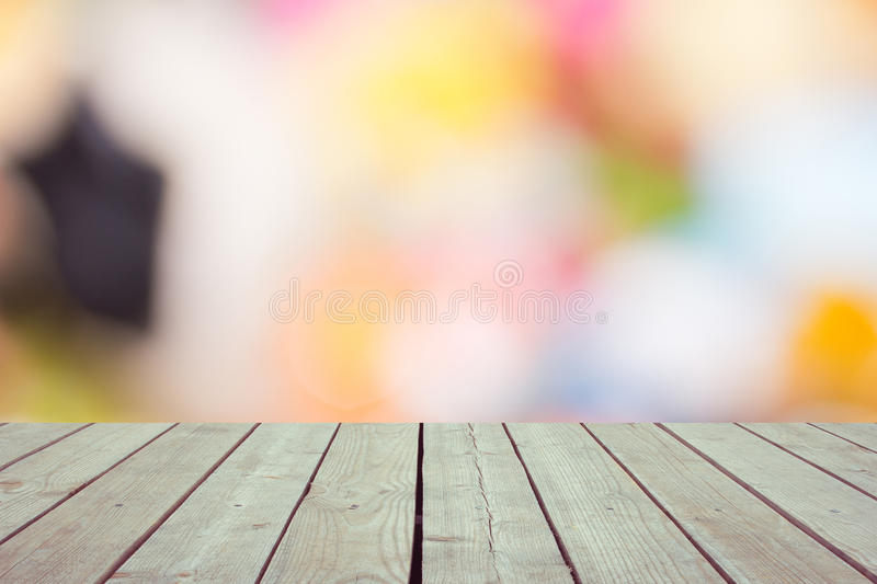 Defocused and blur image of terrace royalty free stock images
