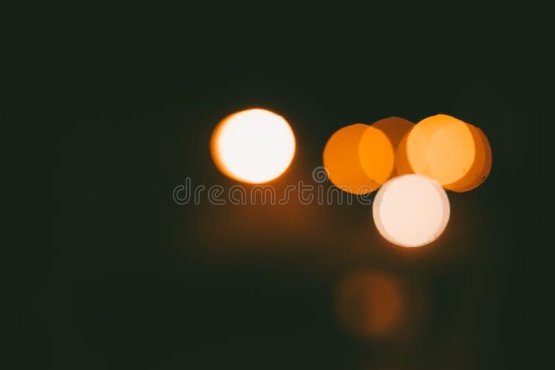Defocused bokeh lights stock image