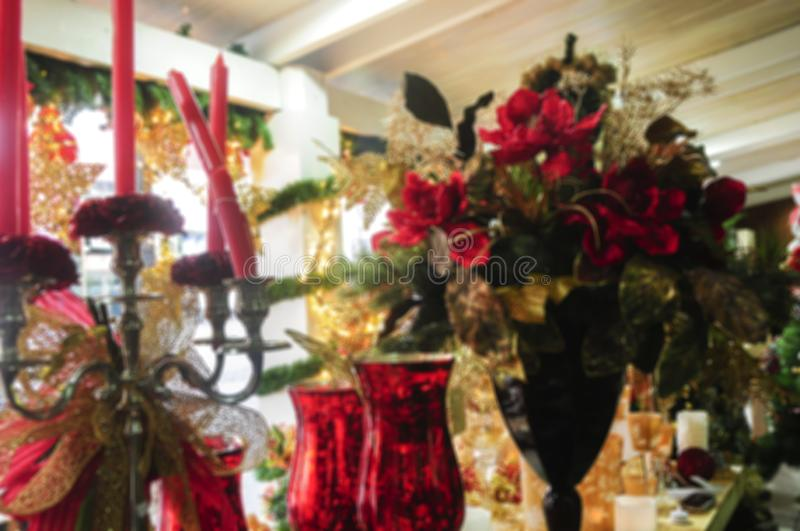 Defocused christmas decoration ideal for image background, blurred texture.  royalty free stock image