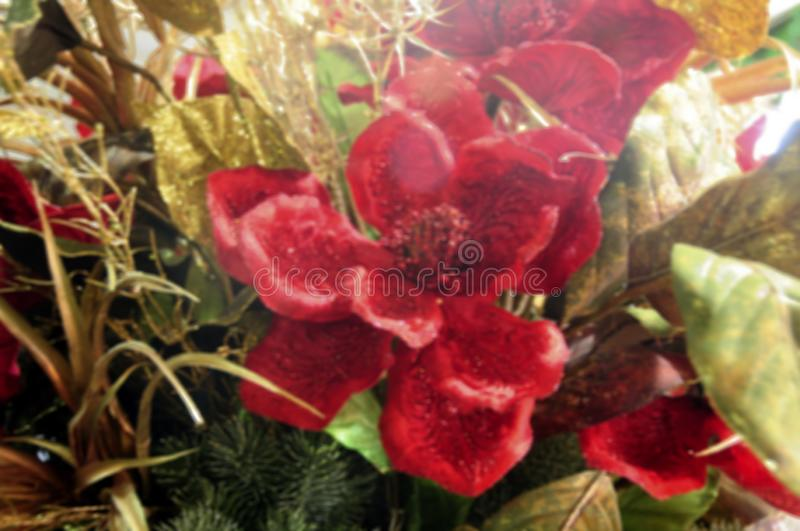Defocused christmas decoration ideal for image background, blurred texture.  royalty free stock images