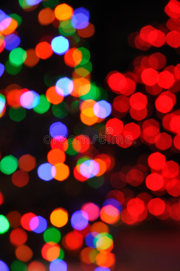 Download Defocused Christmas Lights stock image. Image of dark - 17273901