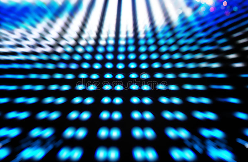 Defocused colored LEDs, Blue blur abstract background. Ready for your design stock photos