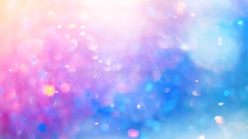 Defocused colorful bokeh texture. Bright saturated spring colors.  stock image