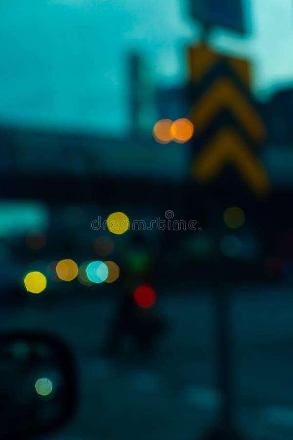 Defocused de las luces del coche fotografía de archivo libre de regalías