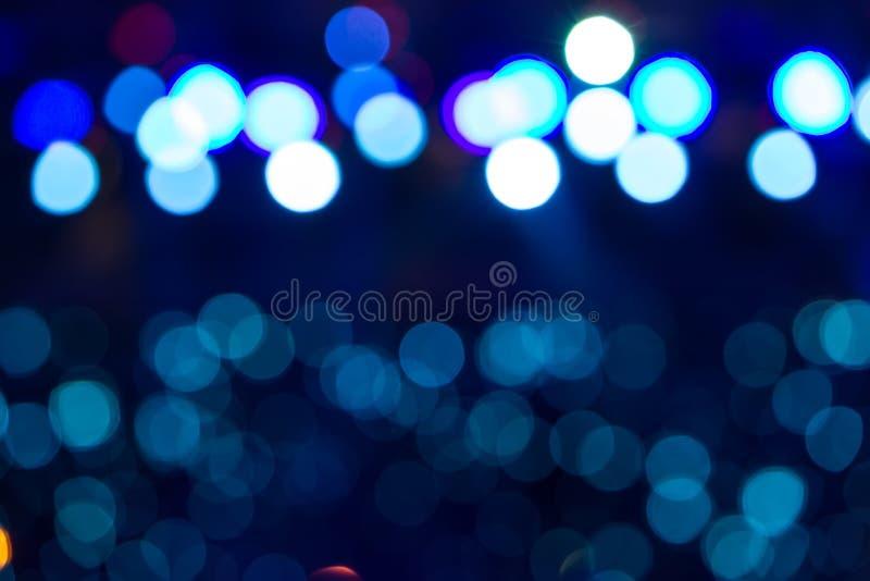 Defocused entertainment concert lighting on stage, bokeh. stock image