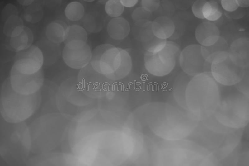 Defocused gray lights. Bokeh background stock photography