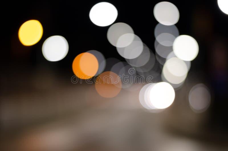 Defocused image of street  illuminated lights royalty free stock image