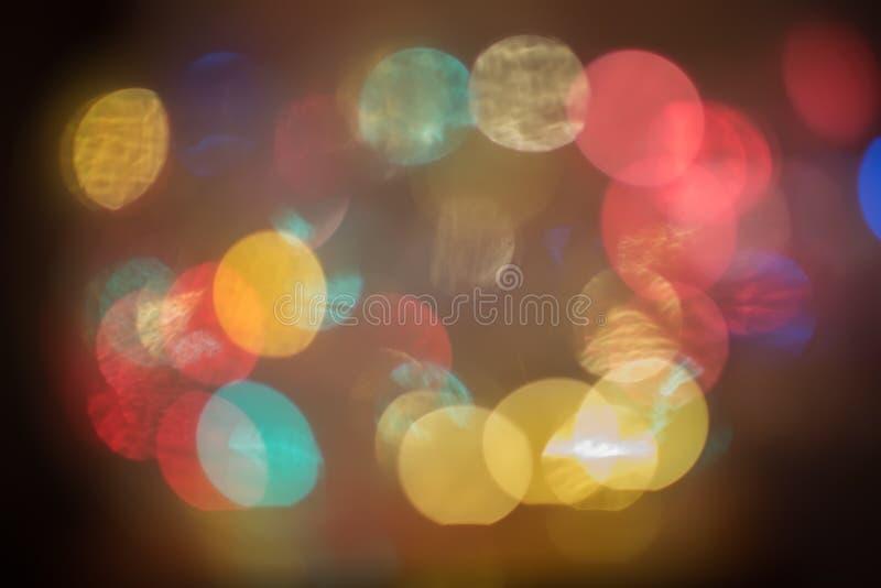 defocused lampor för jul arkivfoto