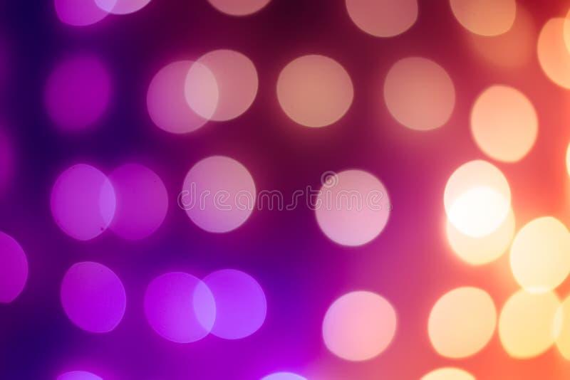 defocused lampor för jul Bokeh fotografi kan användas som en bakgrundsbrunn en samkopiering arkivbild