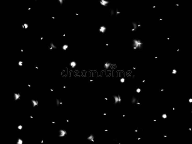 Defocused lights of Christmas garland in black and white evenly distributed over the area of the frame, background, texture stock images