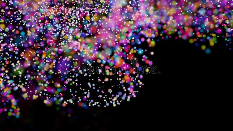 Defocused ljus för härlig färgrik bakgrund för bokeh suddig vektor illustrationer