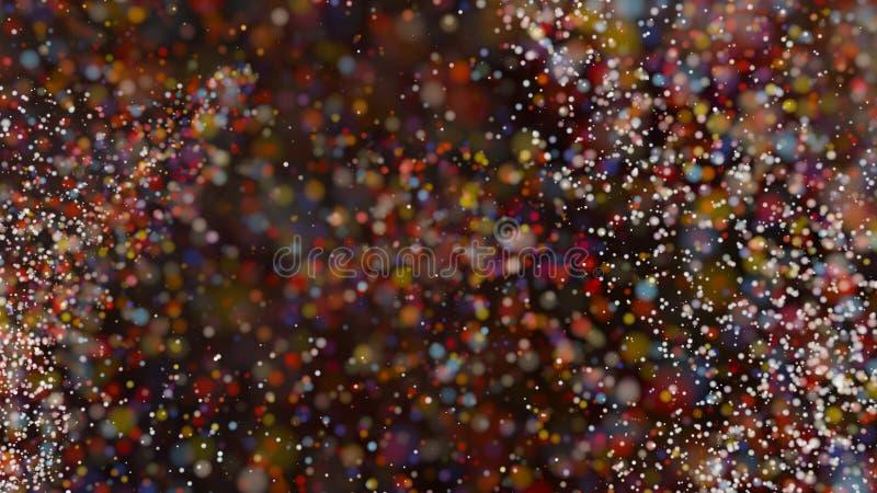 Defocused ljus för härlig färgrik bakgrund för bokeh suddig royaltyfria bilder