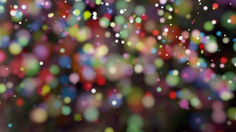 Defocused ljus för härlig färgrik bakgrund för bokeh suddig arkivbilder