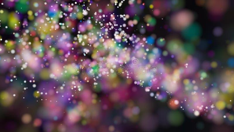 Defocused ljus för härlig färgrik bakgrund för bokeh suddig royaltyfri illustrationer