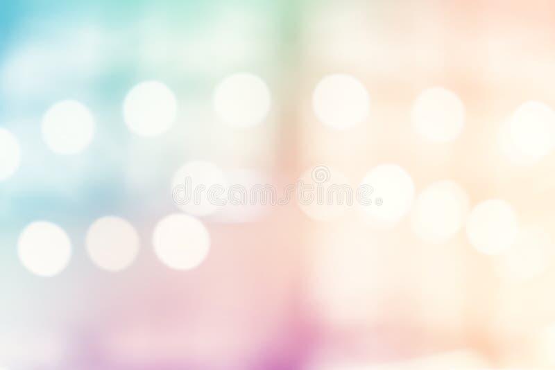 Defocused ljus med vit suddighetsabstrakt begreppbakgrund royaltyfri foto