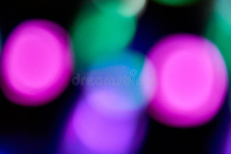 defocused och suddig färgljusdiod royaltyfria foton