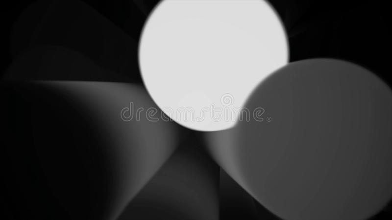 Defocused particle form abstract animated dark background. Abstract Energy Effect for your presentation. Background with royalty free illustration