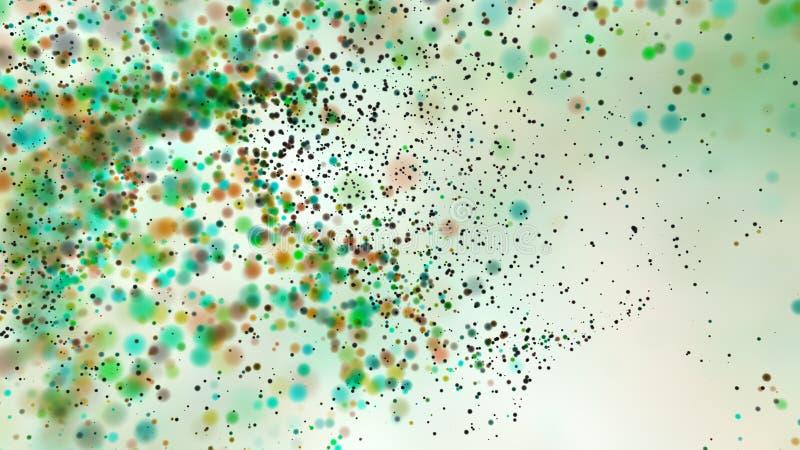 Defocused prickar för härlig färgrik bakgrund för bokeh suddig royaltyfri illustrationer