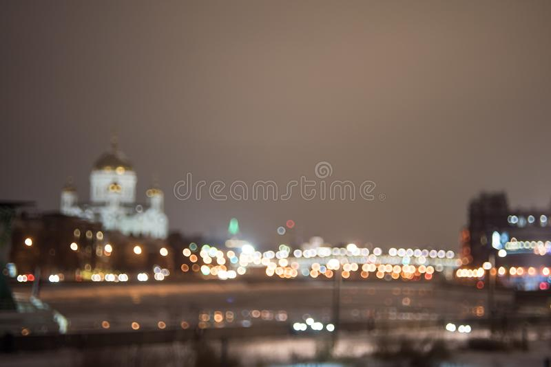 Defocused stads- landskap royaltyfria foton