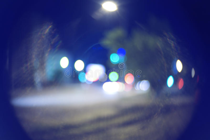 Defocused suddig bakgrund för nattgatabokeh royaltyfria foton