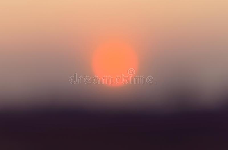 Defocused sunset background, abstract blur. royalty free stock images