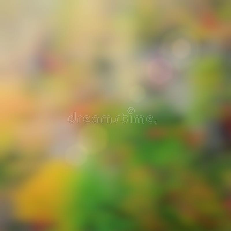 Defocused Textured Effect Digital Art Background in Autumn Colors royalty free stock image