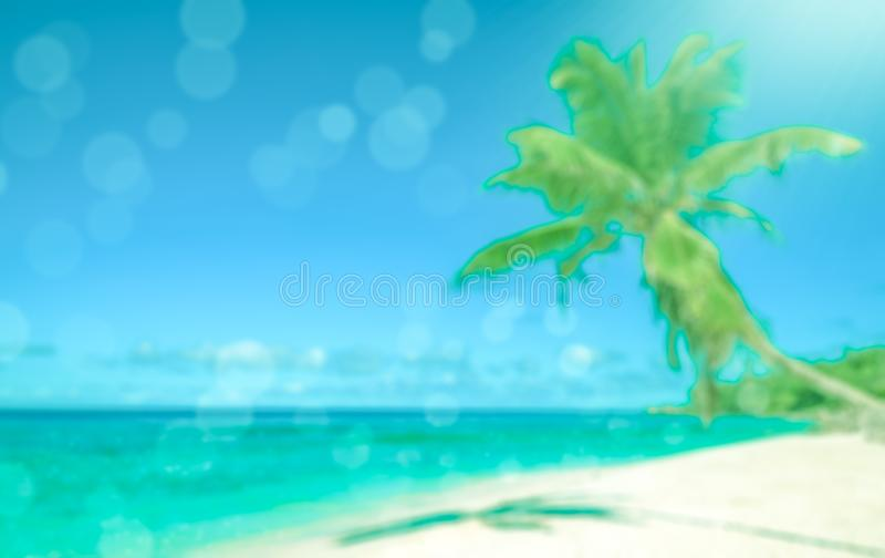 Defocused tropical beach. Perfect vacation background. stock photography