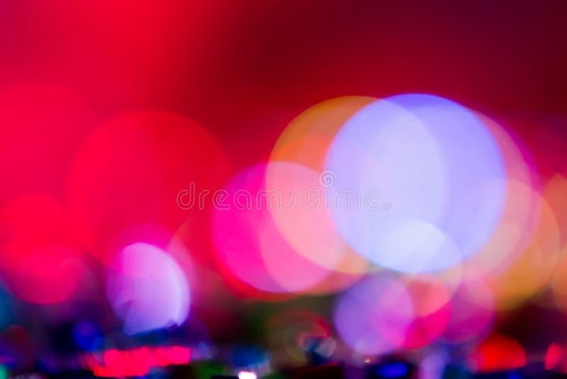 Defocused Unterhaltungskonzertbeleuchtung auf Stadium, bokeh stockfotos
