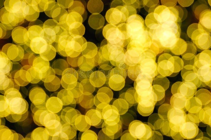defocused yellow för abstrakt bakgrundsjul royaltyfri fotografi