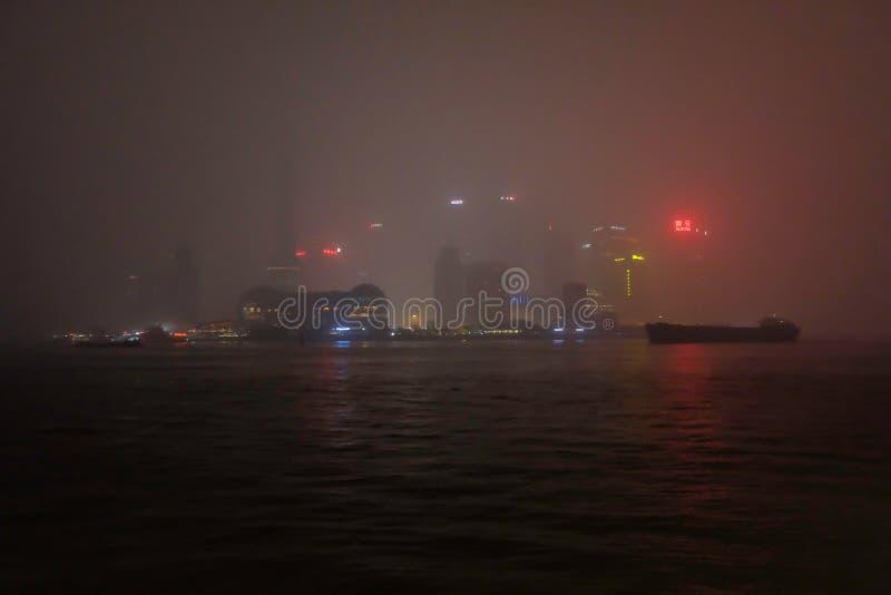 Defocusweergeven van de dijk Shanghai stock foto