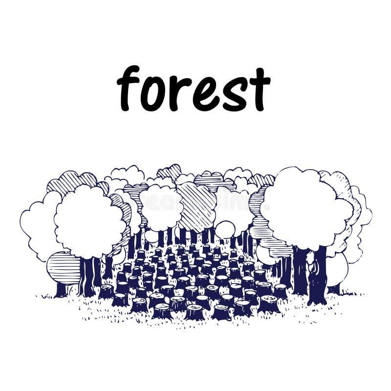 Download Deforestation stock vector. Illustration of ecology, agriculture - 25199665