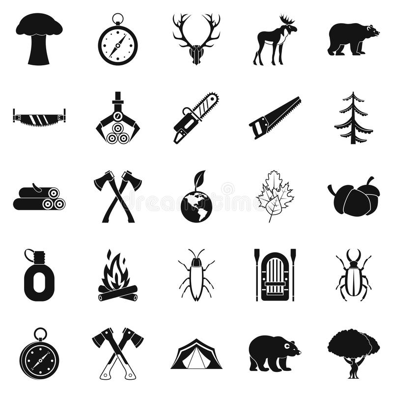 Free Deforestation Icons Set, Simple Style Royalty Free Stock Photos - 98403688