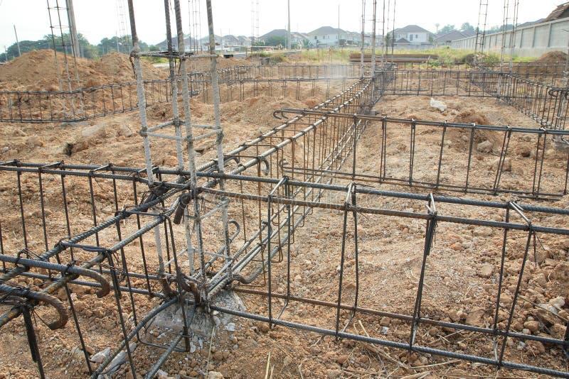 Deforme a barra, construção de aço. foto de stock royalty free