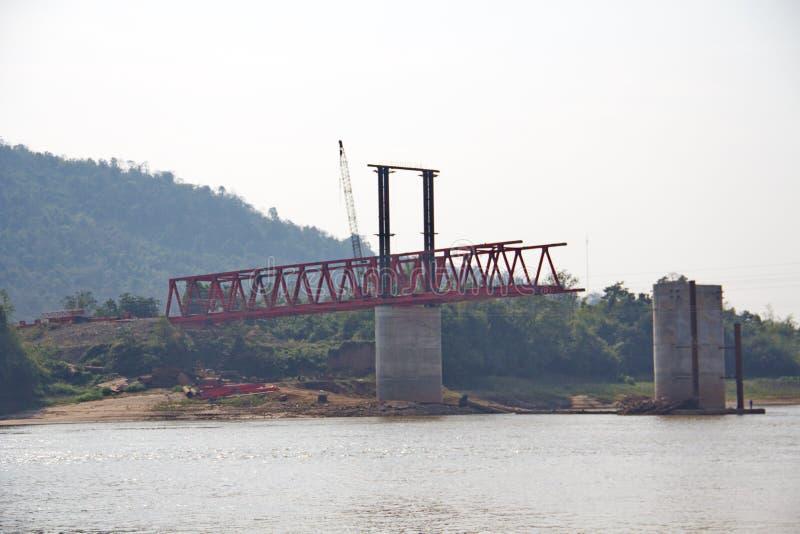 The deformed bars steel bar to build a bridge stock image