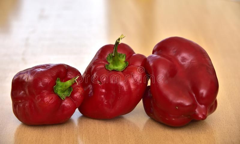 Deformed homegrown Bell Pepper, Paprika, Pepper, Food, Vegetable, stock photos