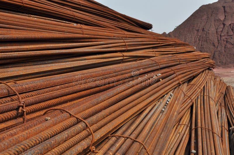 Download Deformed Steel Bar stock image. Image of blue, steel - 24661475