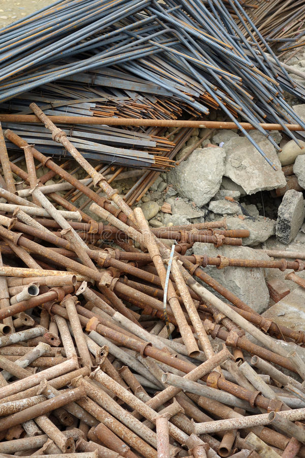 Download Deformed Steel Bars And Steel Pipe Stock Image - Image: 28235155