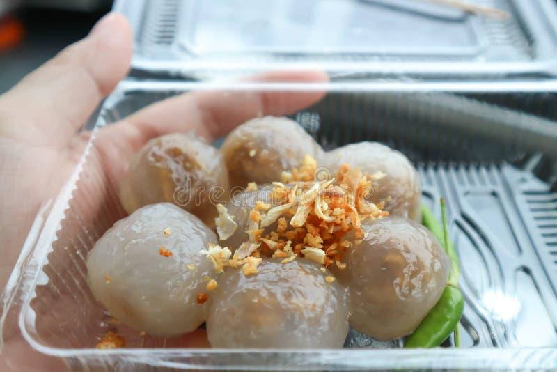 Degboll, tapiokabollar med grisköttfyllning fotografering för bildbyråer