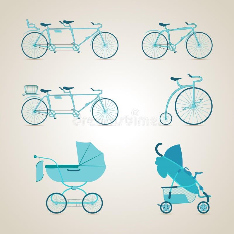 Degenen van het fietskader Degenen van het fietskader, het bicycling cycling Vector illustratie royalty-vrije illustratie