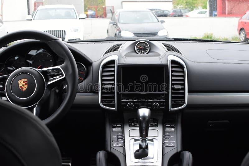 porsche suv 2016. Download Deggendorf, Germany - 23. APRIL 2016: Interior Of A 2016 Porsche Cayenne Suv