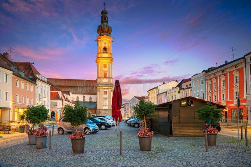 Deggendorf Tyskland arkivbilder