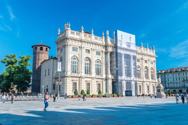 Degli Acaja de Royal Palace Palazzo Madama e Casaforte photographie stock libre de droits