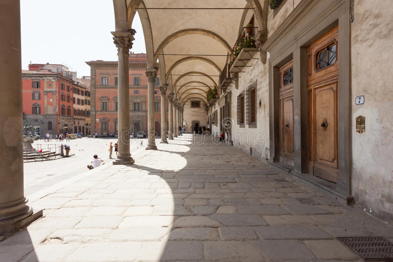 Degli Innocenti di Ospedale a Firenze fotografia stock libera da diritti