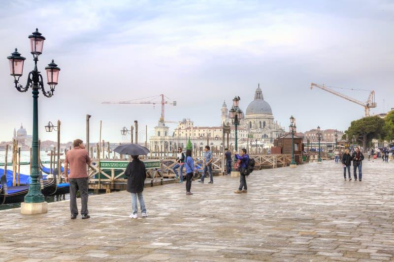 Degli Schiavoni di Riva argine Venezia fotografia stock