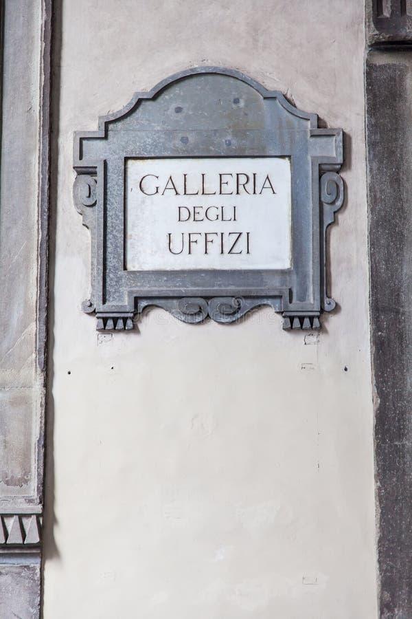 Degli Uffizi Galleria στοκ φωτογραφία με δικαίωμα ελεύθερης χρήσης